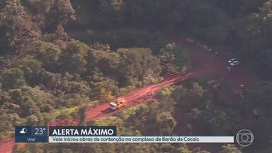 Talude de mina da Vale em Barão de Cocais pode se romper a partir deste domingo - Estrutura está se movimentando cerca de quatro centímetros por dia. Moradores da cidade fizeram um simulado de emergência neste sábado.