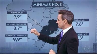Curitiba registra mínima de 12,2° nesta terça-feira (21) - Algumas cidades do Sudeste e do Sul têm a manhã mais fria do ano até agora.