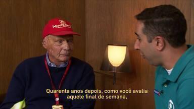 Niki Lauda fala sobre acidente sofrido em 1976 - Em 2016, tricampeão disse a Fábio Seixas como foi a recuperação