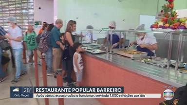 Restaurante Popular do Barreiro volta a funcionar e em clima de festa - Ele estava fechado para a realização de obras.