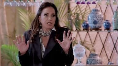 Mercedes conta para todos em sua casa que foi assaltada e salva pela Lidiane - Mercedes recebe uma ligação de Murilo Fraga sobre Candé