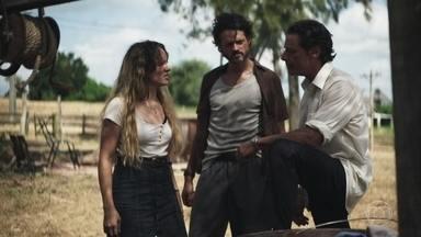 Ticiana conta quem atirou no irmão e todos decidem se vingar - Miroel e Nilda se preocupam com o estado de Amadeu