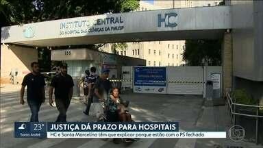HC e Santa Marcelina terão que explicar à justiça como funcionam os serviços de emergência - Os dois hospitais recebem verbas do SUS para trabalhar de portas abertas a quem precisa. Mas só atendem casos graves.