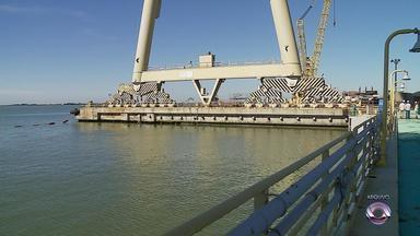 Lote de peças para construção de plataformas vai a leilão - Materiais seriam destinados para obras de estaleiros em Rio Grande.
