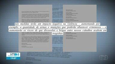 Mauro Carlesse assina carta criticando o fácil acesso a armas de fogo - undefined