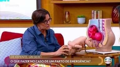 Médica diz o que fazer no caso de um parto de emergência - A dra. Ana Escobar dá dicas para auxiliar em um parto quando a mulher não consegue chegar ao hospital