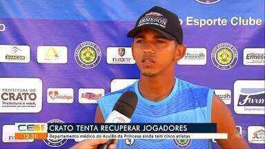 Crato tem desfalques para jogo contra Tiradentes - Confira mais notícias em g1.globo.com/ce