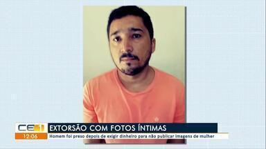Homem é preso ao exigir dinheiro para não publicar fotos íntimas - Confira mais notícias em g1.globo.com/ce