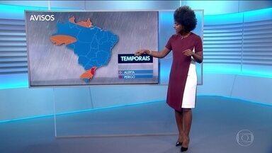Veja a previsão do tempo para sexta-feira (24/05) - Maju alerta para tempo severo em partes da região Sul. E chagada de frente fria em São Paulo e no Rio de Janeiro.