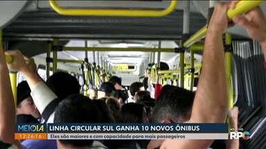Linha Circular Sul ganha 10 novos ônibus - Eles são maiores e com capacidade para mais passageiros.