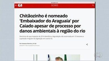Chitãozinho é nomeado 'Embaixador do Araguaia' apesar de processo por danos ambientais - Ele recebeu a nomeação do governador Ronaldo Caiado. Denúncia diz que inspeção de 2014 identificou degradação não autorizada em 15 hectares e supressão irregular da vegetação em outros 43.