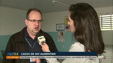 Número de casos de HIV aumenta em Ponta Grossa - Na cidade, o público mais atingido é o de adultos jovens, com idade entre 20 e 29 anos.