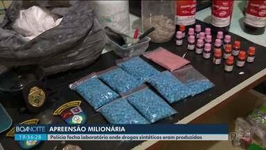 Polícia descobre laboratório de drogas sintéticas - Quatro pessoas foram presas.
