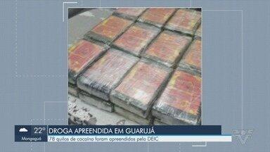 Policiais do DEIC de SP apreendem 78 Kg de cocaína na travessia entre Santos e Guarujá - A ação ocorreu na noite de quinta-feita (23) e a droga foi encontrada escondida em uma caminhonete.