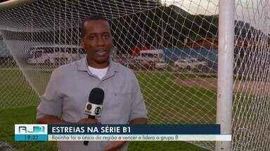 Roxinho é o único do interior do Rio a vencer na estreia da série B1 do Campeonato Carioca - Time lidera o grupo B.