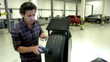 Aparelho faz leitura 3D para saber desgaste do pneu - Scanner dá até a previsão de desgaste, ajudando na durabilidade.