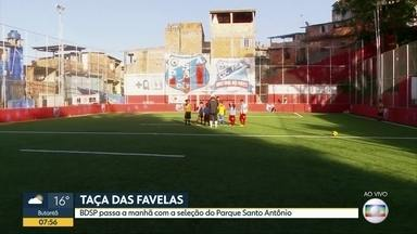 Equipe do Parque Santo Antônio é finalista da Taça das Favelas - Equipe do BDSP tomou café da manhã com a comunidade