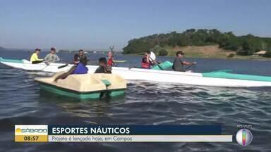 Projeto esportivo náutico é lançado em Campos, no RJ - Lançamento aconteceu na Lagoa de Cima.