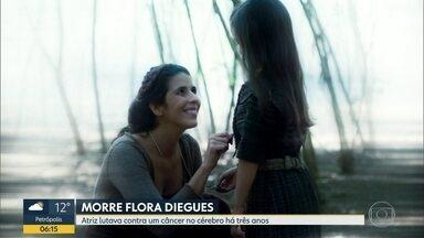 Morre a atriz Flora Diegues - A atriz morreu no domingo (2). Ela lutava contra um câncer no cérebro há três anos.