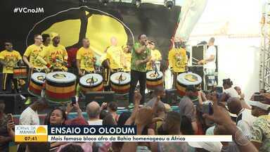 Grupo Olodum promove ensaio para homenagear a África e divulgar o tema do carnaval 2020 - A banda se apresentou no domingo (2), no Pelourinho.