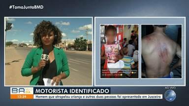 Motorista que atropelou mãe e filha em Juazeiro é apresentado na delegacia - O condutor atropelou uma criança, que morreu, e outras duas pessoas.