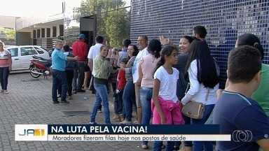 Vacina contra gripe está quase acabando em Goiânia - Imunização foi aberta para todas as pessoas fora dos grupos de risco.