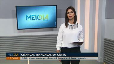Crianças são encontradas sozinhas dentro de carro em Ponta Grossa - A polícia encontrou a mãe das crianças em uma casa, próxima do local onde o carro estava. No imóvel os policiais encontraram maconha, cocaína e crack.