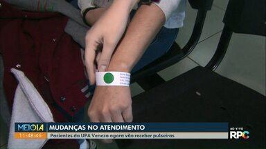 Pacientes da UPA Veneza agora vão receber pulseiras durante o atendimento - A UPA Tancredo já utiliza essa pulseira e a UPA Brasília também começou a usar.