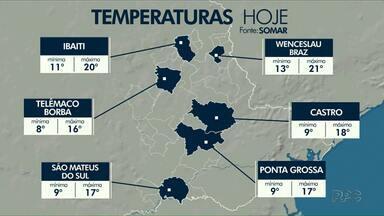 Sol toma conta do Paraná e traz baixas temperaturas para região dos Campos Gerais - Confira a previsão do tempo completa para esta terça-feira (04).