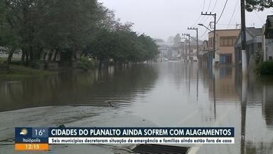 Cidades do Planalto Norte ainda sofrem com alagamentos - Cidades do Planalto Norte ainda sofrem com alagamentos