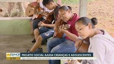 Projeto social ajuda crianças e adolescentes em contraturno escolar - Projeto social ajuda crianças e adolescentes em contraturno escolar