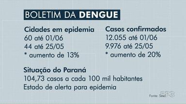 Paraná entra em estado de alerta de epidemia de dengue - O alerta vale para todos os municípios. E Cambé acaba de entrar para a lista das cidades com epidemia de dengue.