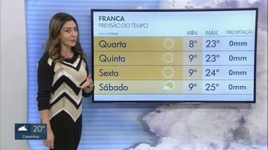 Confira como fica a previsão do tempo para a região de Ribeirão Preto, SP - Temperaturas devem cair durante a madrugada desta quarta-feira (5).