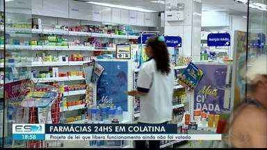 Vereadores ainda não votaram decisão sobre abertura de farmácias em Colatina - Atualmente, quem precisa de remédio após as 20h precisa contar com a escala de plantão.