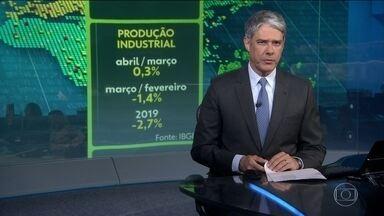 Produção industrial cresce 0,3% em abril - No acumulado do ano indicador tem queda de 2,7%.