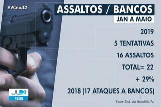Assaltos a banco aumentam em 29% no Pará - Orientação da Segup é que policiais não reajam para não pôr em risco a vida dos moradores.