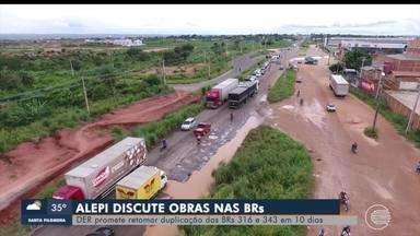 Alepi discute obras em rodovias no Piauí - Alepi discute obras em rodovias no Piauí