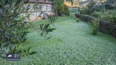 Frio provoca geadas no Sul de Minas; Maria da Fé registra 4º C - Frio provoca geadas no Sul de Minas; Maria da Fé registra 4º C