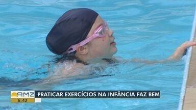 Especialistas explicam as vantagens da prática de exercícios na infância - Atividades ajudam a evitar o sedentarismo.