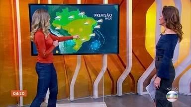 Meteorologia prevê chuva forte em parte do Norte e Nordeste; veja previsão para todo país - O tempo fica firme no Centro-Sul do país.