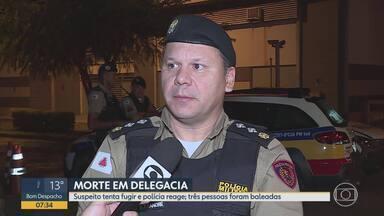 Pai de suspeito morre em tentativa de fuga do filho em delegacia de Vespasiano - Felipe Chaves de Alcântara foi parado em uma blitz, e, segundo a PM, tem passagens por tráfico de drogas e homicídio. No momento da abordagem, ele apresentou documento falso.