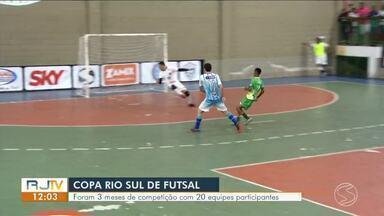 27ª Copa Rio Sul de Futsal: confira expectativa para a final em Volta Redonda — Parte 1 - Mendes e Piraí entram em quadra às 14h na Arena Multiuso, na Ilha São João.