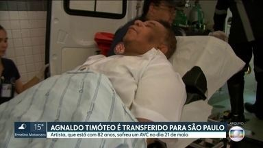 Cantor Agnaldo Timóteo é transferido de Salvador para Hospital das Clínicas, na capital - O cantor está com 82 anos e deu entrada na UTI do Hospital das Clínicas na manhã deste sábado (8), logo que chegou da capital baiana. O artista sofreu um AVC no dia 21 de maio.