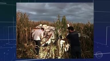 Monomotor cai em Cascavel, Paraná - Ninguém ficou ferido
