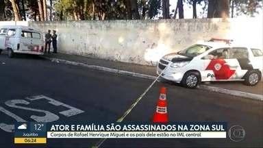 Ator e pais são mortos na Zona Sul de SP - Rafael Henrique Miguel e seus pais foram assassinados na tarde deste domingo (9).