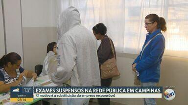 Rede de saúde de Campinas suspende parte dos exames de sangue - Os exames emergenciais continuam sendo normalmente.