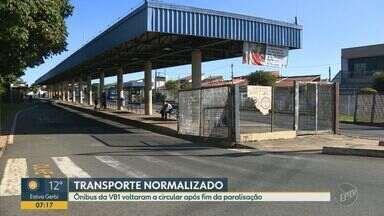 Ônibus da VB1 circulam normalmente nesta segunda-feira em Campinas - No fim de semana os motoristas fizeram uma paralisação.