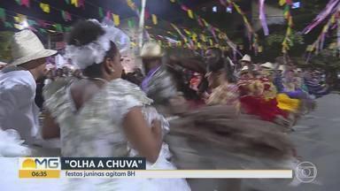 Quadrilhas abrem os festejos em BH - Mês de junho dá as boas-vindas aos festejos de São João e de Santo Antônio. Neste domingo teve apresentações de quadrilhas da capital.