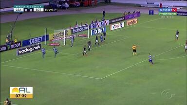 CSA perde para o Botafogo de virada e permanece no Z4 do Brasileiro - No Rei Pelé, Azulão foi derrotado por 2 a 1