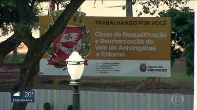 Prefeitura da capital anuncia obras no Anhangabaú - Fios de telecomunicações são enterrados.